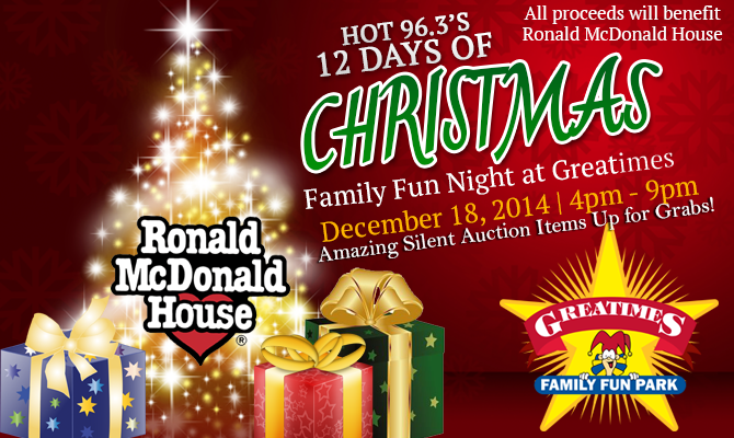 12 Days of Christmas Family Fun Night at Greatimes DL