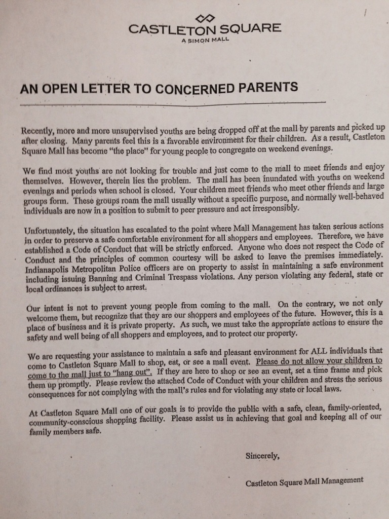 castleton-square-mall-letter1