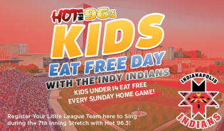 Kids Eat Free with the Indians Giveaway