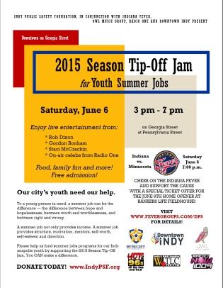 2015 Season Tip-Off Jam for Youth Summer Jobs