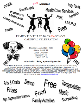 17th Annual Family Fun Filled Back-in-School Carnival Celebration