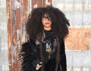Erykah Badu attends the Givenchy fashion show during Spring 2016 New York Fashion Week