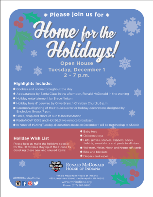 Ronald McDonald House Holiday Open House