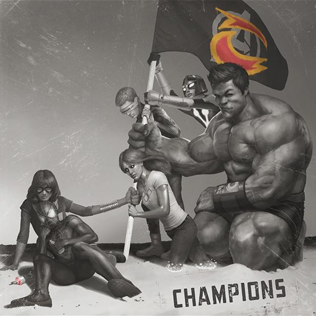 "Marvel ""Champinons""Hip-HopVariants"
