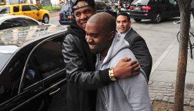 Kim Kardashian And Kanye West Sighting In New York City - April 22, 2013