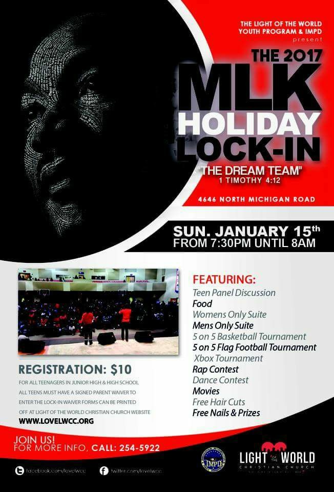 Annual MLK Day Youth Lock In