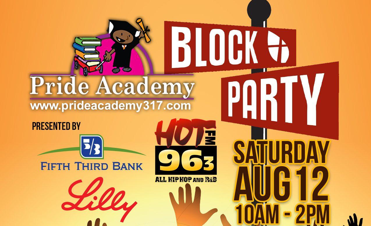 Pride Academy Block Party Flyer