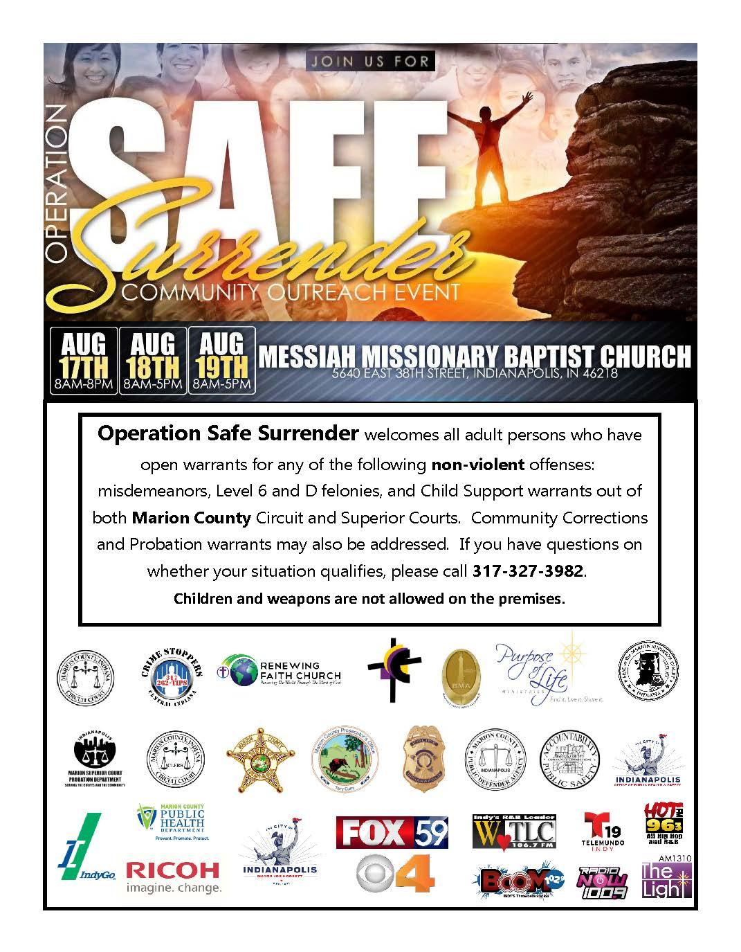 Operation Safe Surrender Flyer