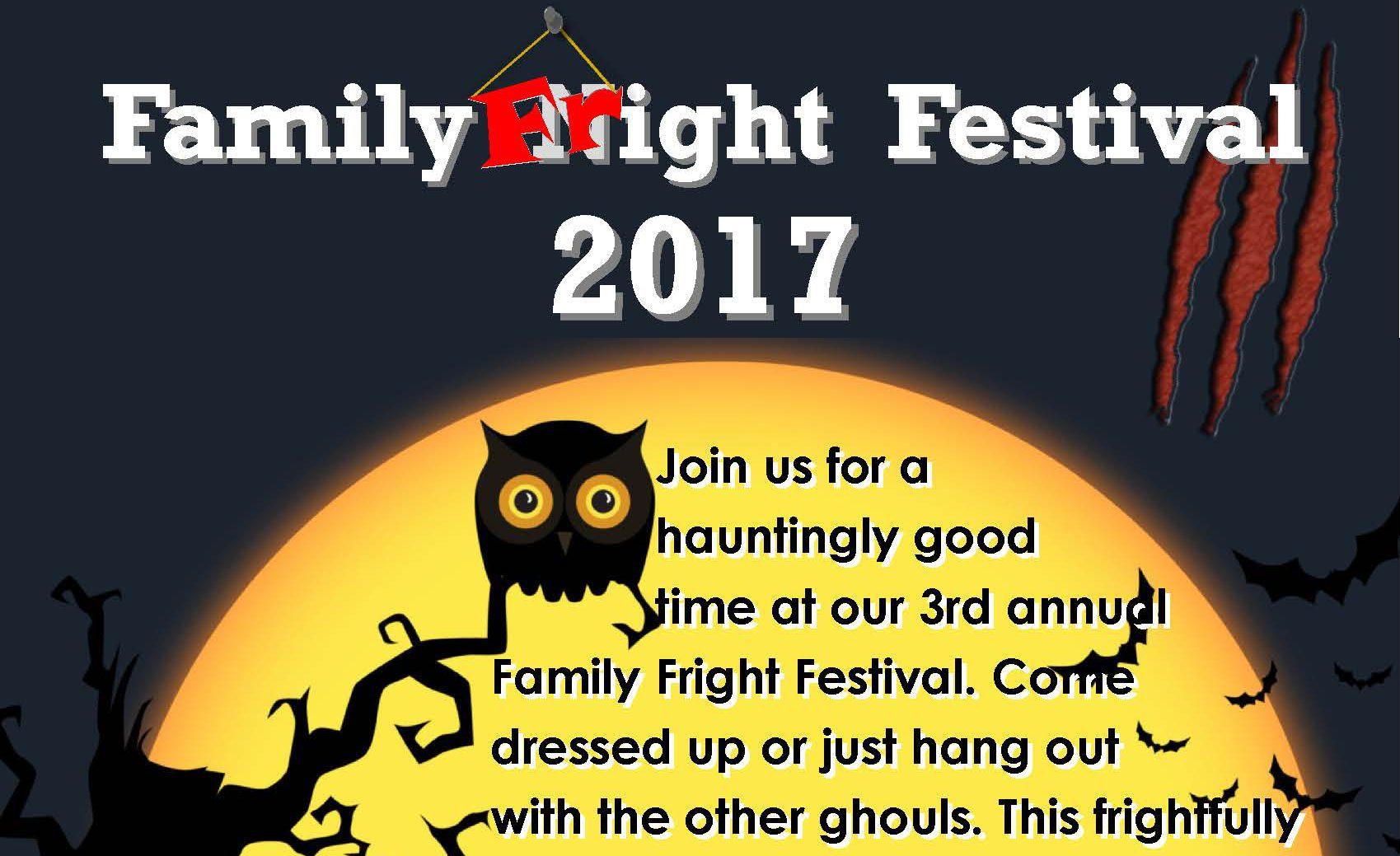 Family Fright Festival Flyer