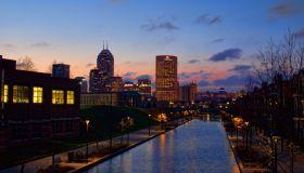 Indianapolis Skyline at Sunrise