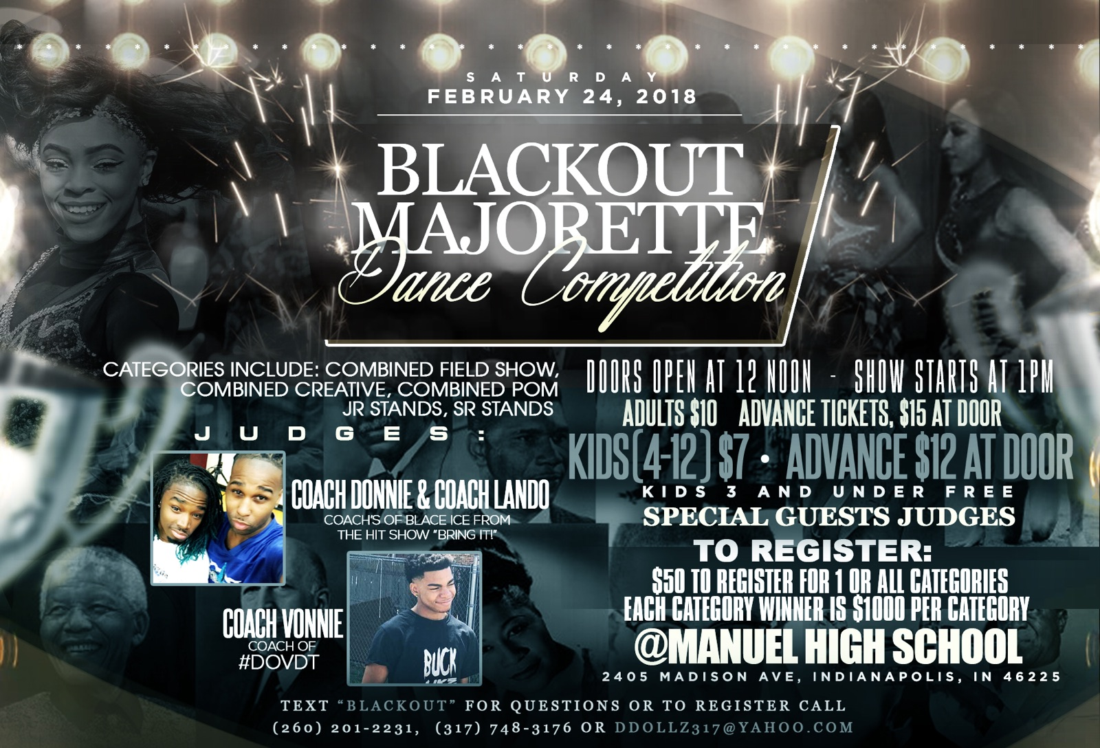 BLACKOUT 1st annual Dance Competition Flyer