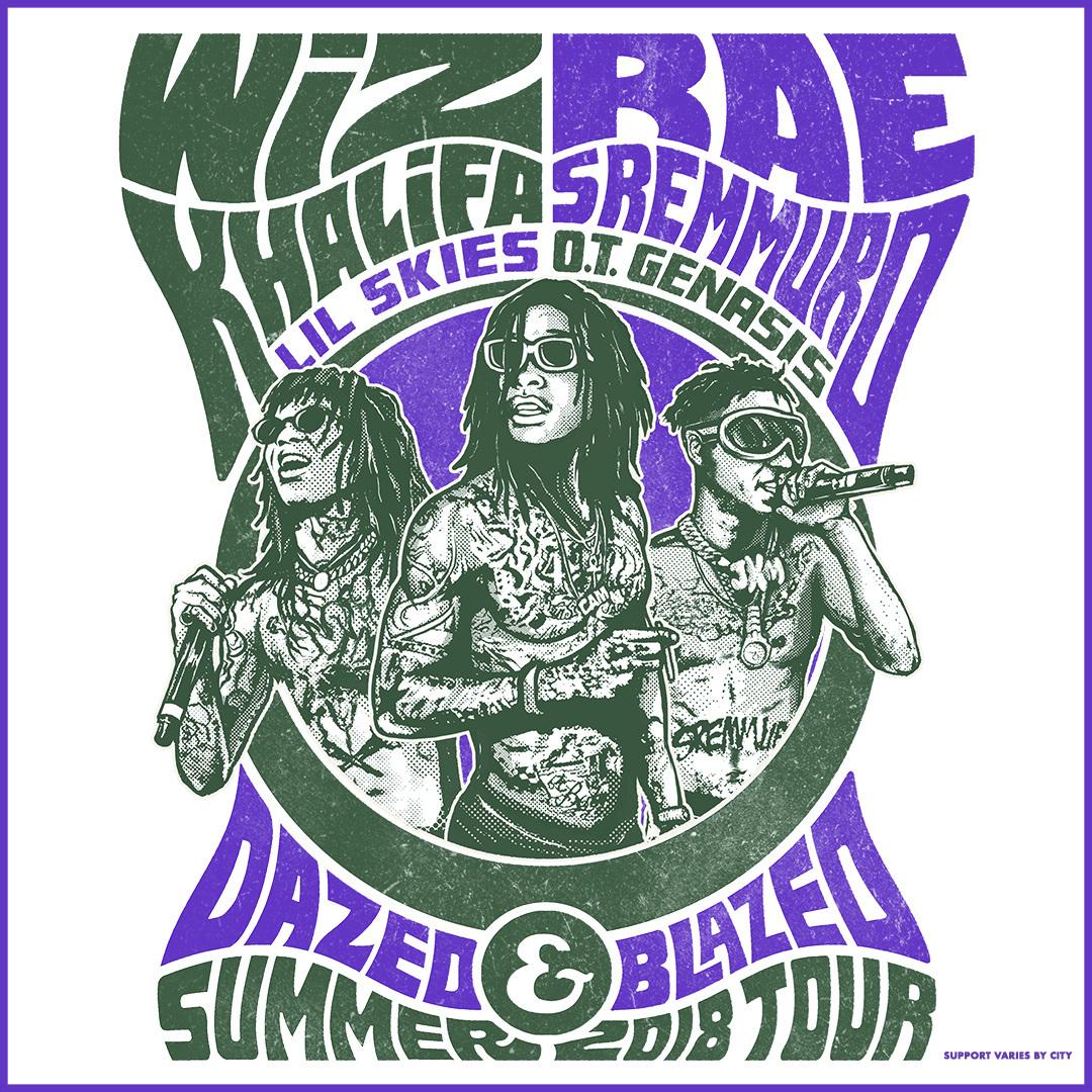 Wiz Khalifa and Rae Sremmurd 2018 Tour Flyer