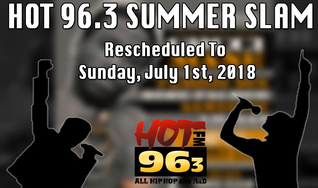Hot Summer Slam - Rescheduled Graphic