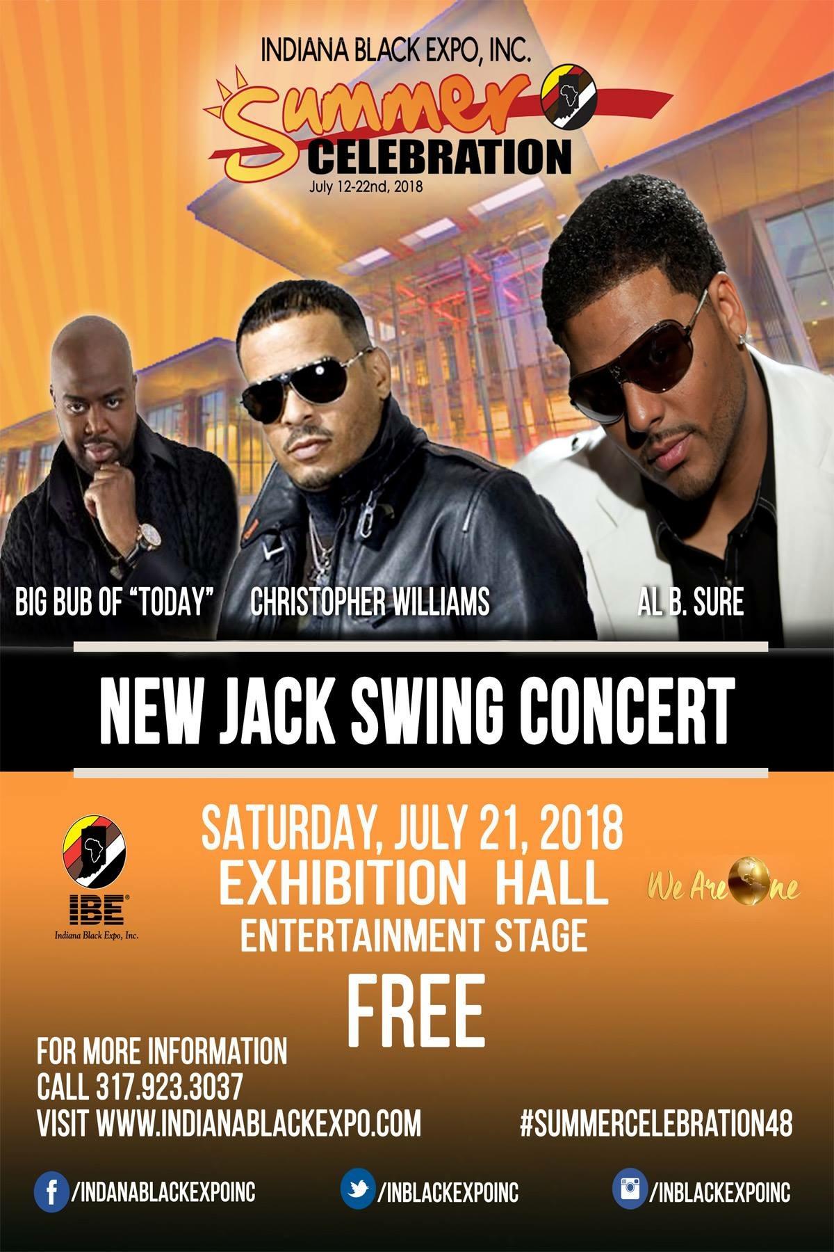 New Jack Swing Concert Flyer