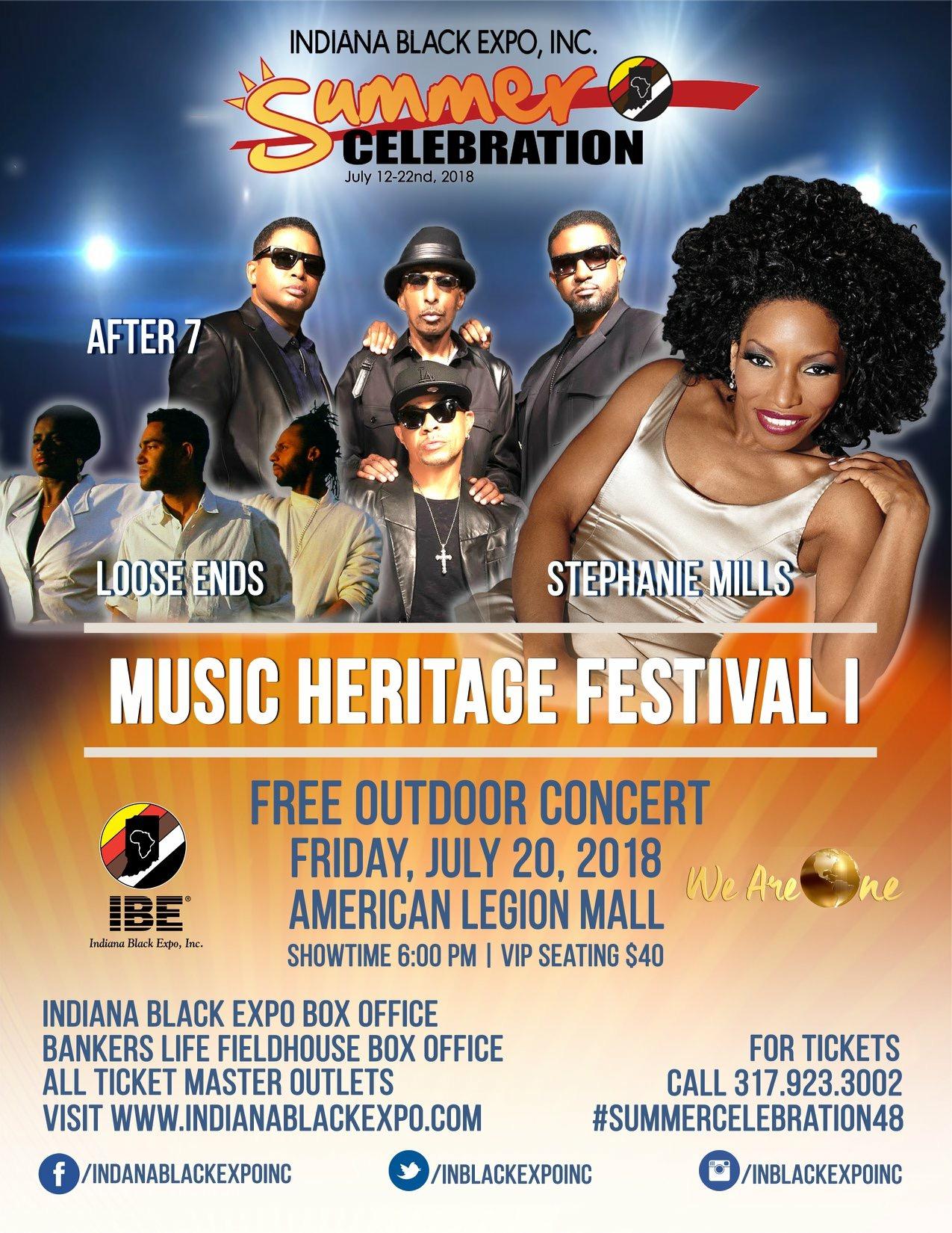 Music Heritage Festival I (Outdoor Concert) Flyer