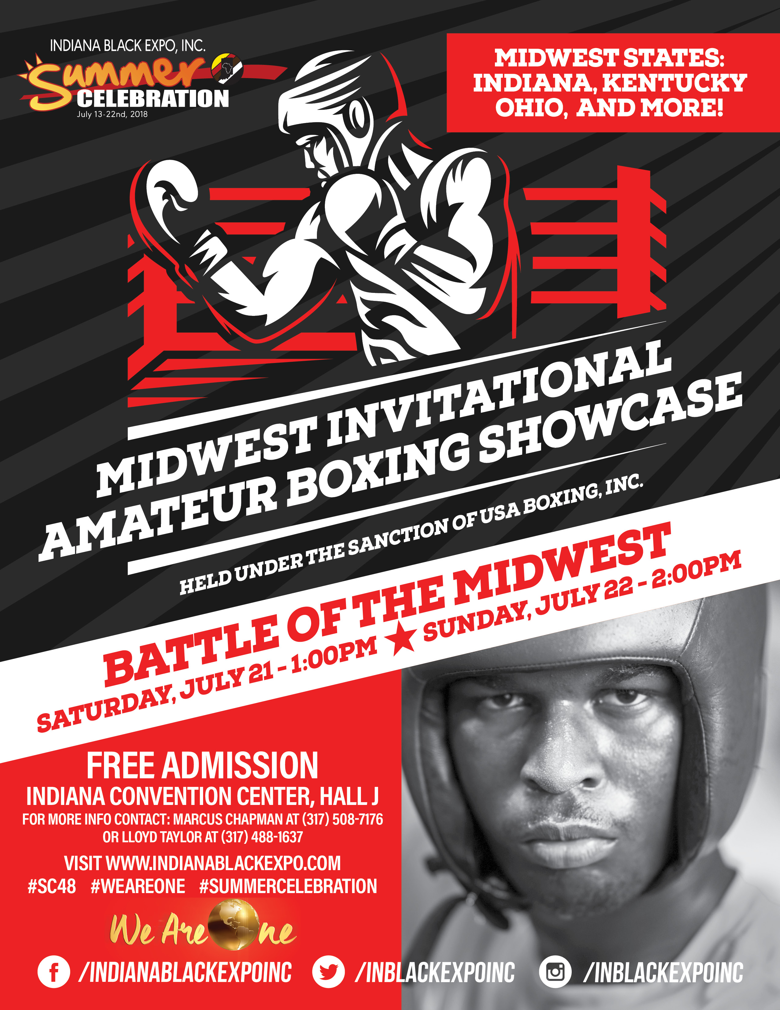 IBE Midwest Invitational Amateur Boxing Showcase Flyer