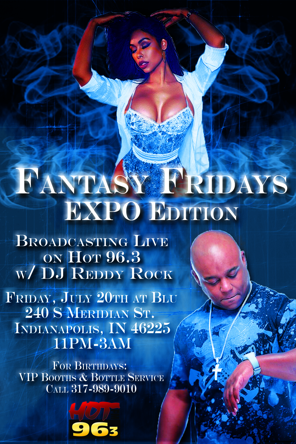 Fantasy Fridays @ Blue (Expo Edition) Flyer