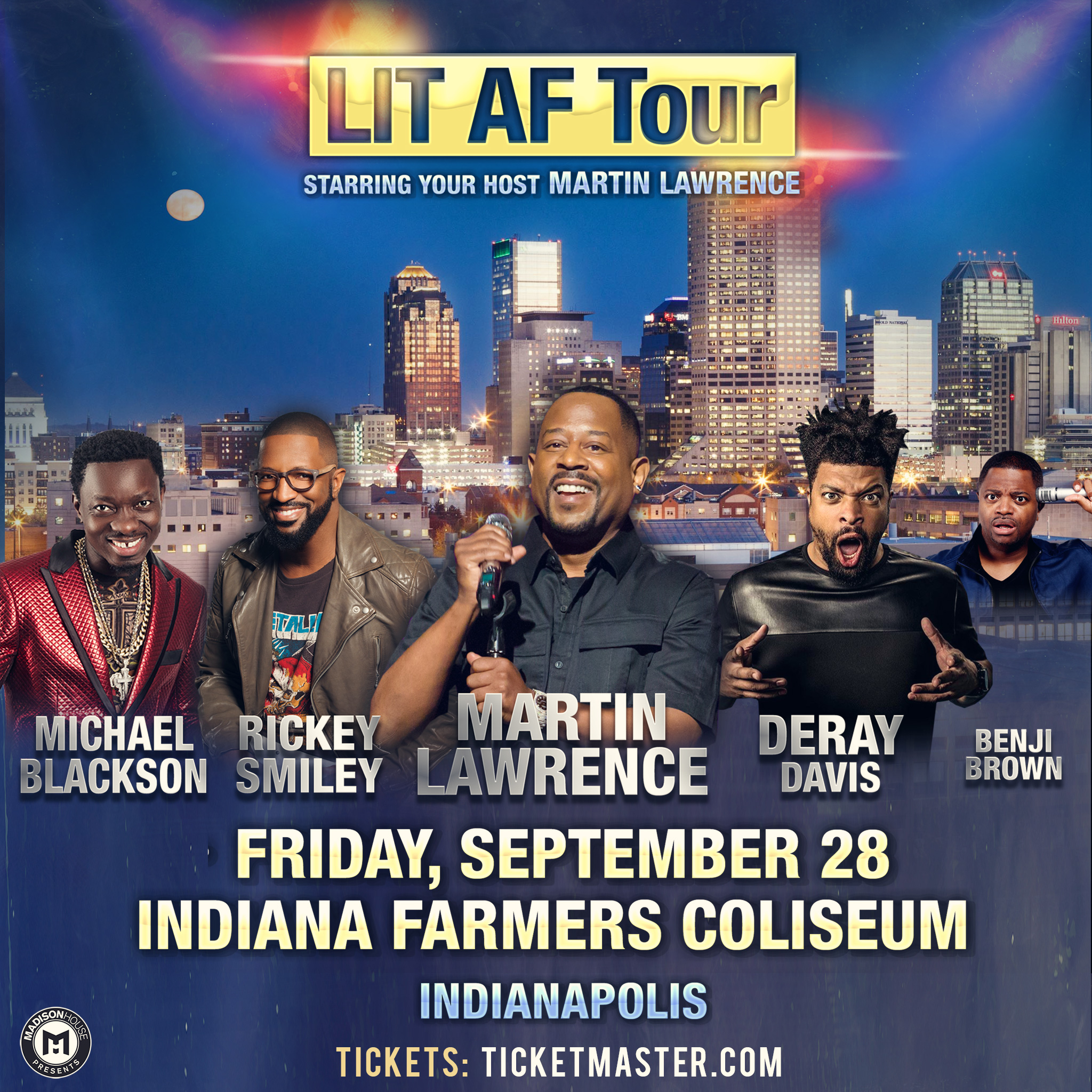 Martin Lawrence Lit AF Tour Flyer