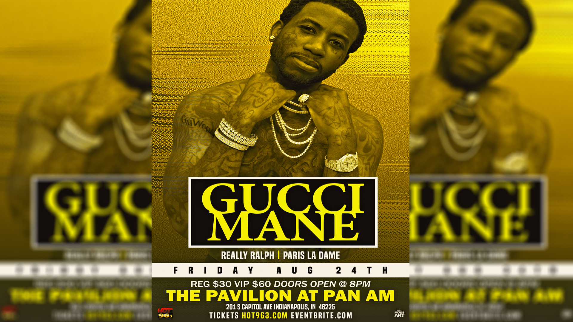 Gucci Mane Live at the Pavilion Flyer