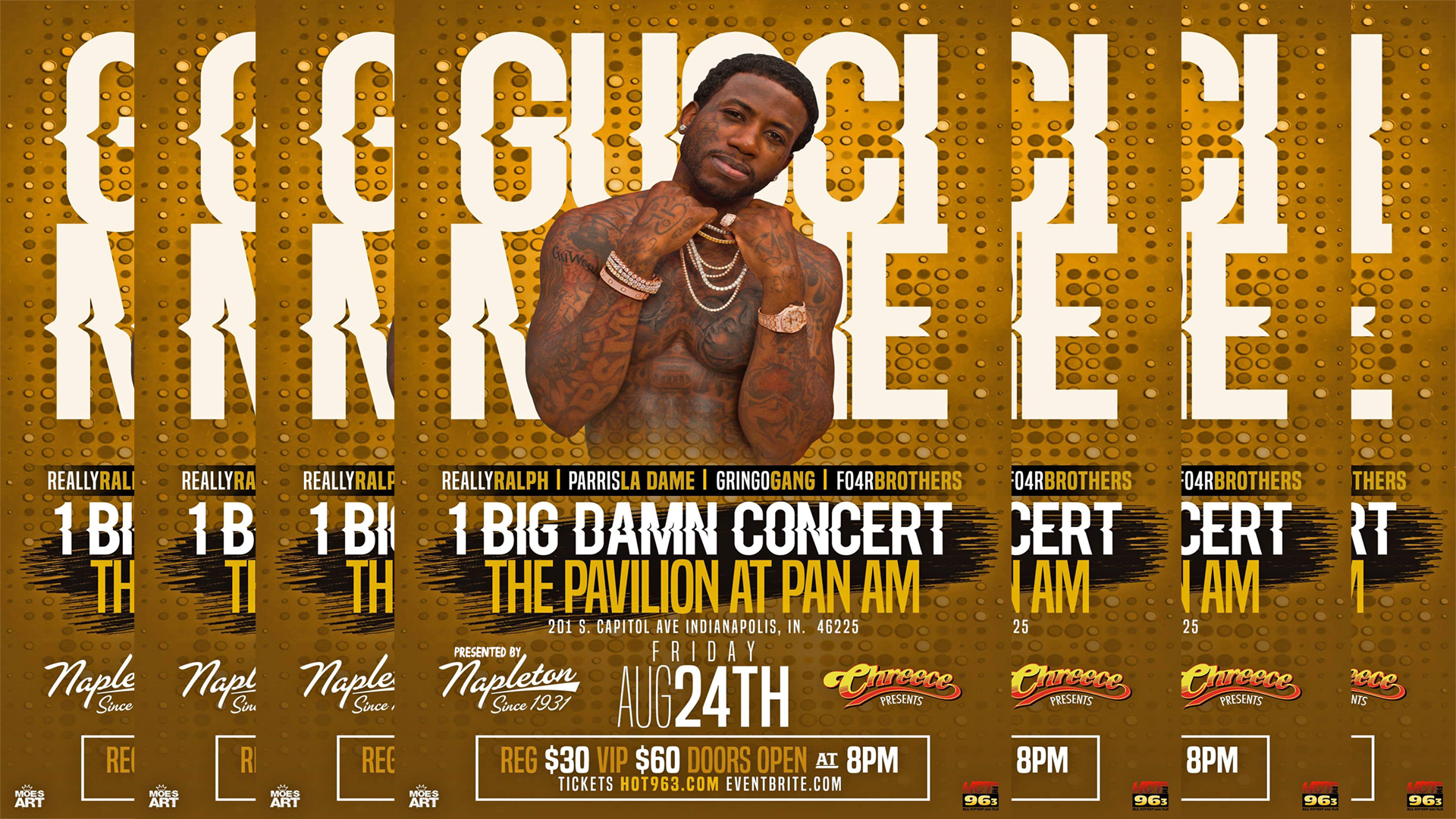Gucci Mane Live at the Pavilion Flyer