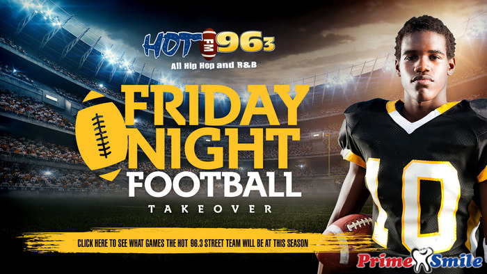 Hot 96.3 Friday Night HS Football Takeover Graphic