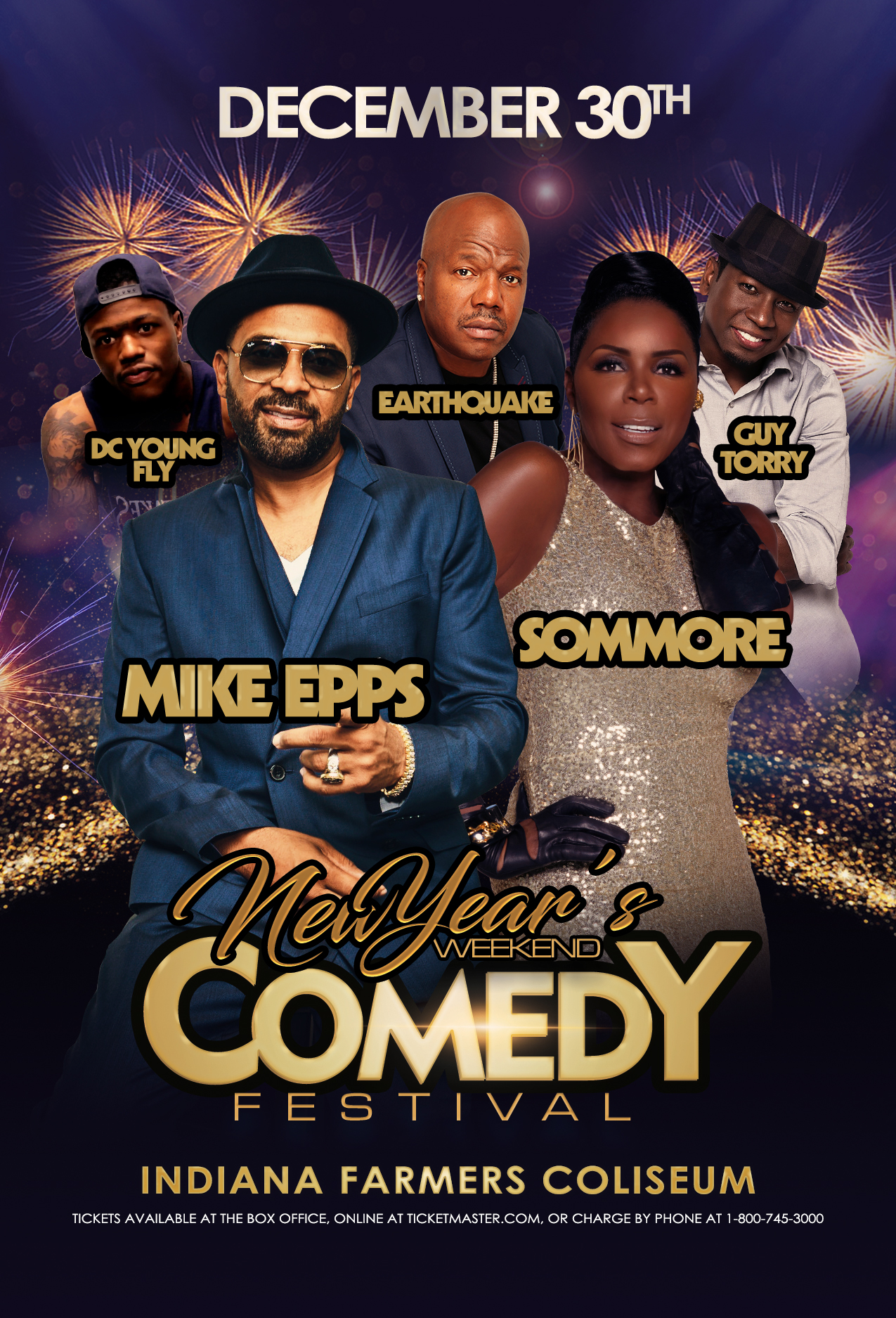 New Year's Weekend Comedy Festival Graphic