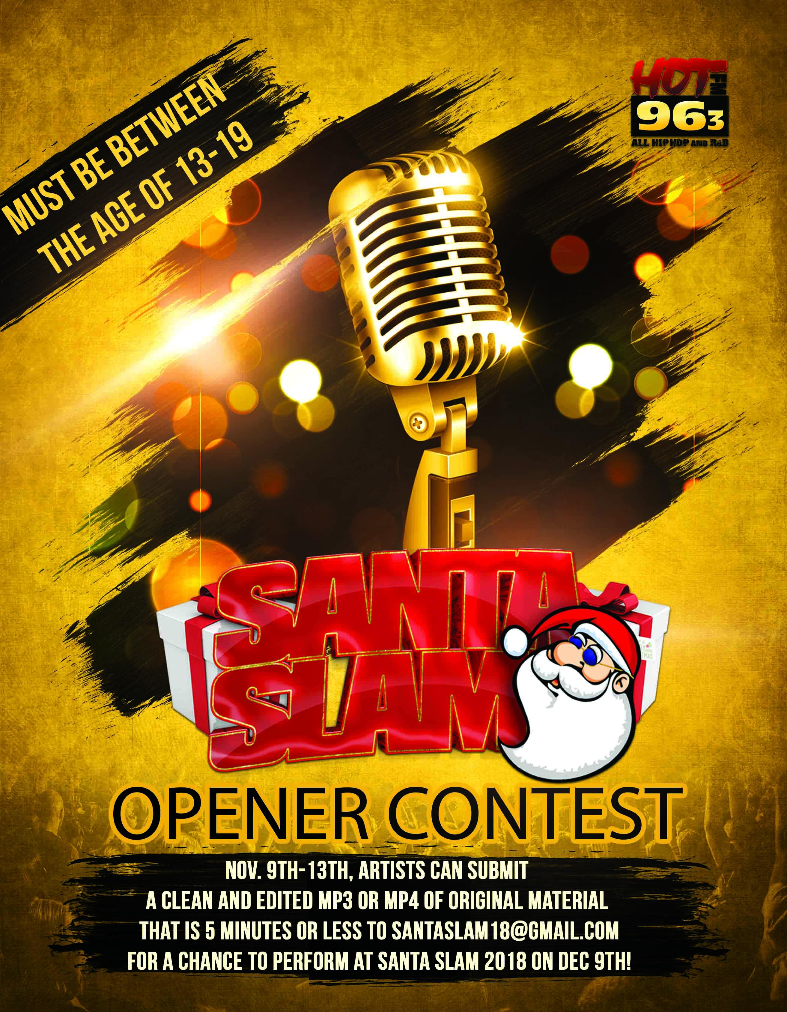Santa Slam Opener Contest Flyer