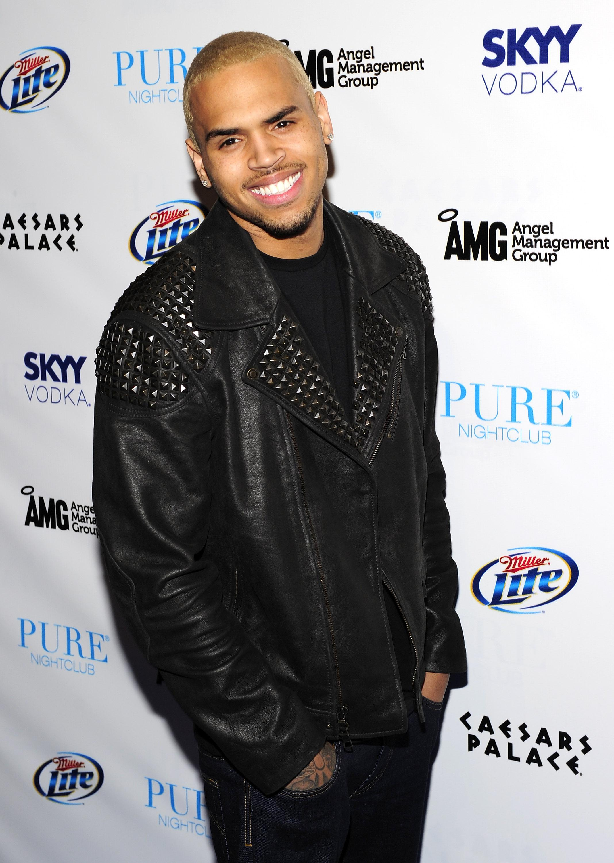 Chris Brown Celebrates His 22nd Birthday At Pure Nightclub