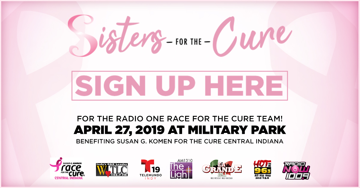 Race for the Cure 2019 Sign Up Graphic