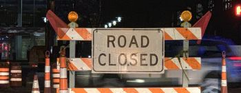 Road Closed Construction Sign