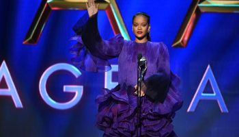 Rihanna during acceptance speech