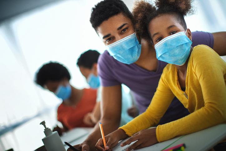 Home schooling during coronavirus quarantine.